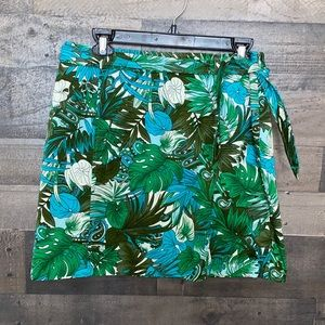 Pretty Green Floral Ann Taylor Skirt